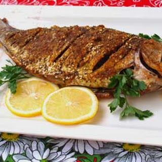 Crucian Carp with Sesame Seed Crust