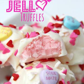 Strawberry JELL-O Truffles.
