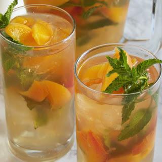 Peachy Mint Iced Green Tea.
