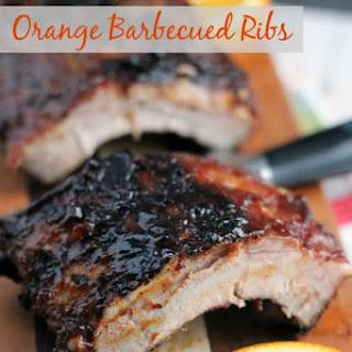 Orange Barbecued Ribs.