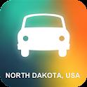 North Dakota, USA GPS icon
