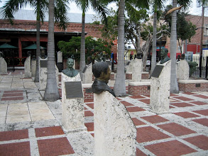 Photo: The Key West sculpture garden at Mallory Square