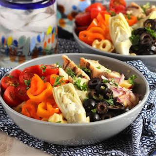 Italian Tortellini Salad with Grilled Chicken.