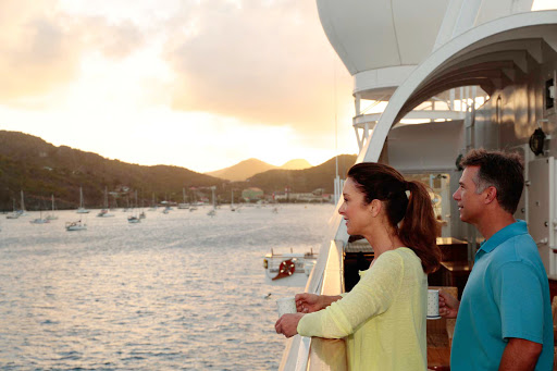 Sunrise in St. Barts on a SeaDream cruise.