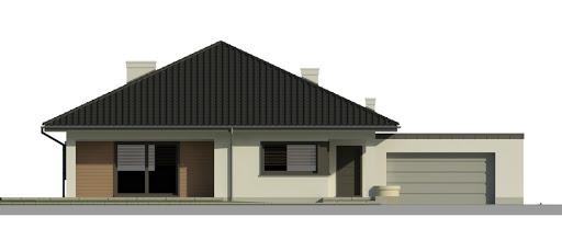 Dom przy Makowej 4 - Elewacja przednia