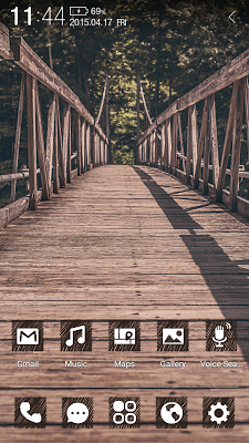 Into the Forest Atom Theme - screenshot