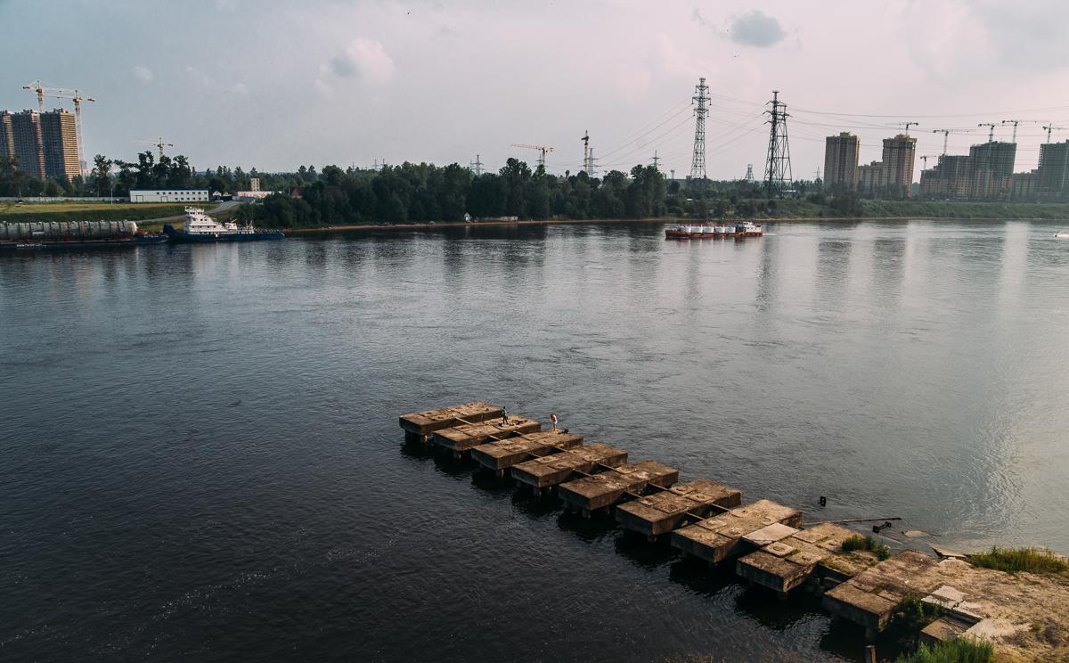 Вид с верхней точки Володарского моста