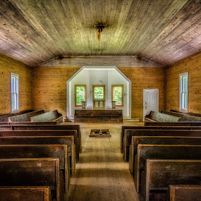 Cades Cove Church by Chris Thomas - Buildings & Architecture Places of Worship ( hdr, church, tennessee, gatlinburg, worship, cades cove,  )