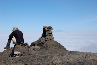 Photo: Mount Meru in the distance