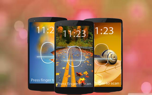 Finger print Lock Screen Prank - screenshot