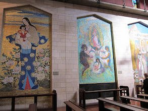 Photo: Images of Mary donated by various nations