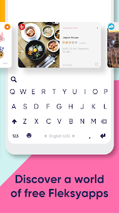 Fleksy: Fast Keyboard + Stickers, GIFs & Emojis Screenshot