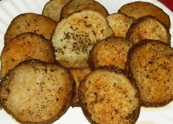 These Potatoes Are A Buttery Treat. Basil And Garlic Make It Even More Tasty! My Kids Look Forward To Having These. Change Things Up And Add Parm. Cheese And Chives! Great Side To Go With Any Meal!