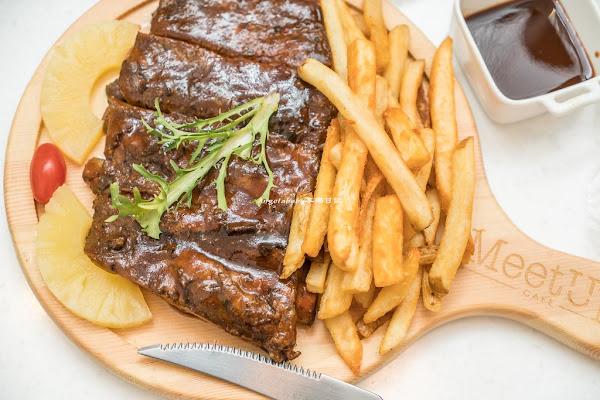 大安站美食|Meetup Cafe 台北最超值的商業午餐、超便宜牛排、平價排餐、輕食咖啡、內有菜單menu