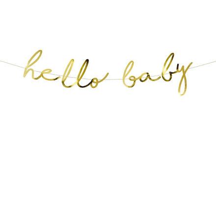 Backdrop - Hello baby, guld