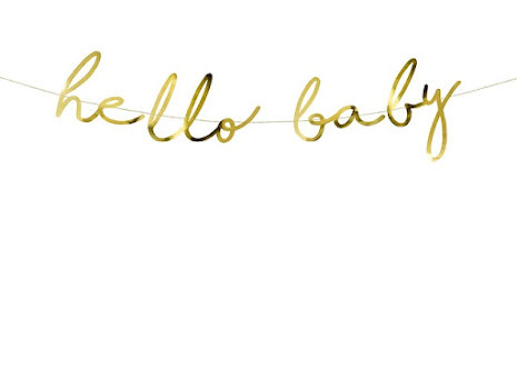 Backdrop - Hello baby, guld