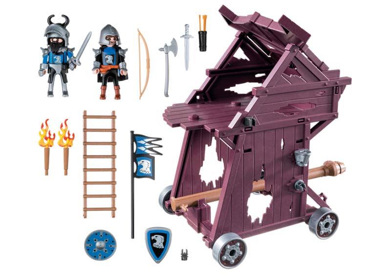 Contenido real de Playmobil® 6628 Torre de Ataque de los Caballeros del Halcón