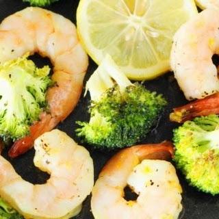 Roasted Shrimp & Broccoli Sheet Pan Supper (Printable recipe)
