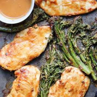 Quick Chicken and Baby Broccoli with Spicy Peanut Sauce #WeekdaySupper