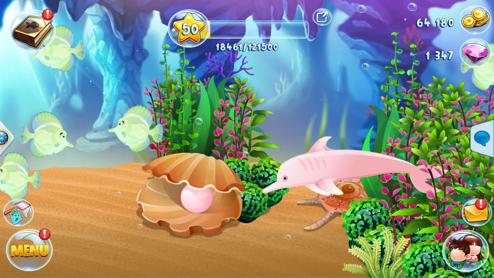 Fish paradise grow and breed android apps on google play for Fish breeding games