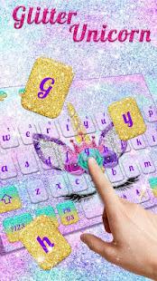 Glitter Unicorn Keyboard