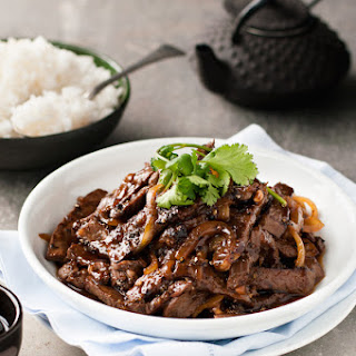 Chinese Beef with Honey and Black Pepper Sauce.