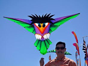 Photo: Scott Hampton with his self-designed and made Birds.