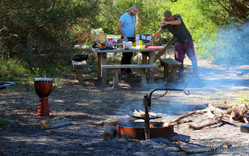 Photo: Camping at Gippsland Lake National Park, Victoria