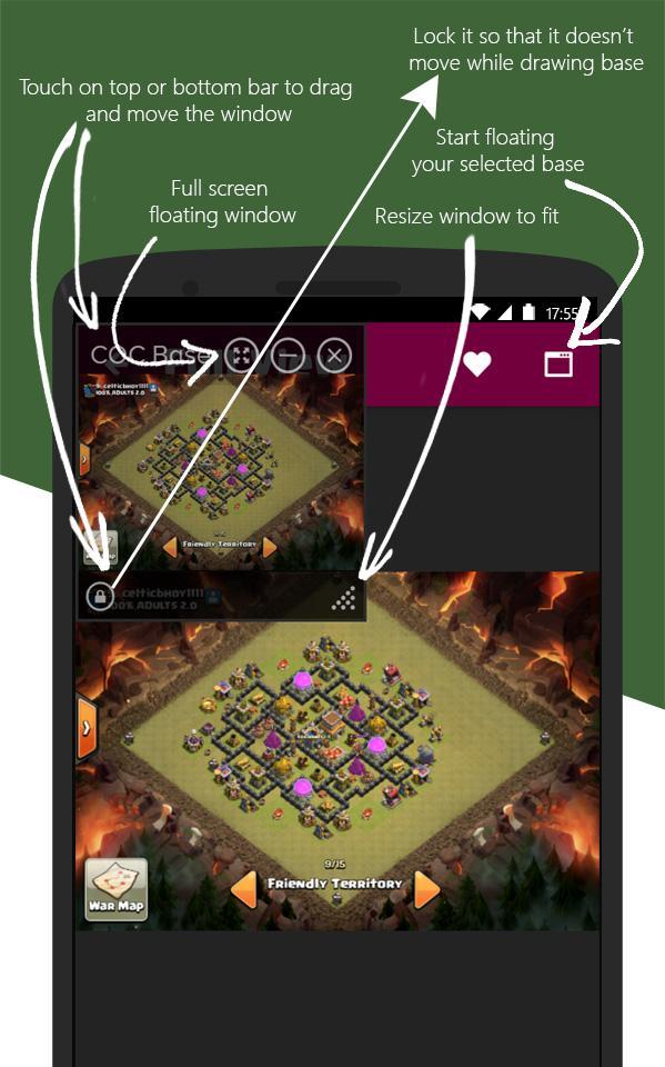 Clash Base Designer for COC Screenshot