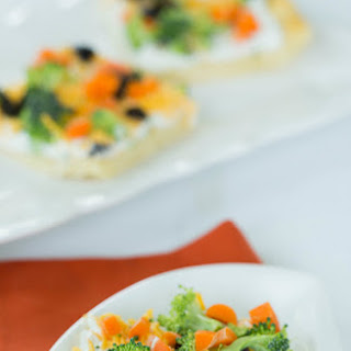 Veggie Pizza Appetizer.