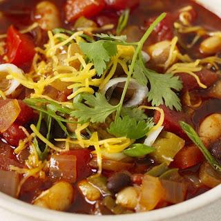 Three-Bean Vegetable Chili.