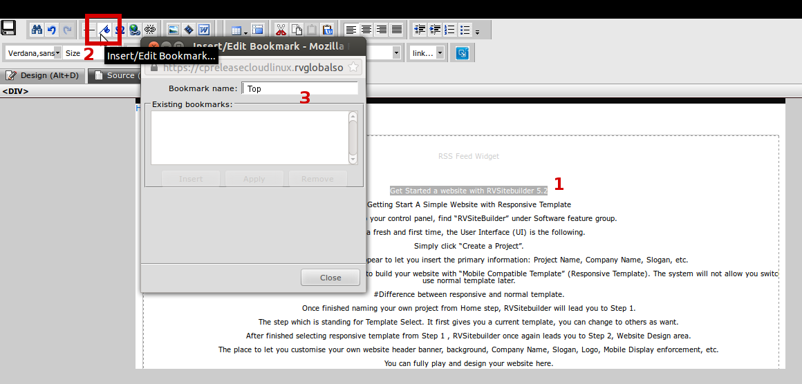 Create bookmark in the same page – RVglobalsoft