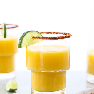 Mango Margarita with Chile Salt and Lime.