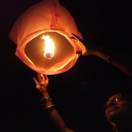 Sky lantern by Rangan Majumdar - People Street & Candids ( festival )