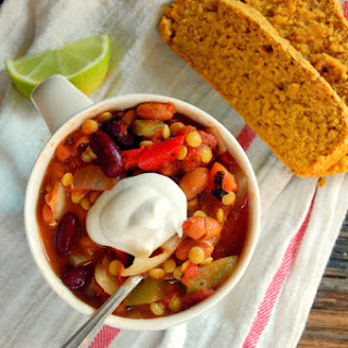 Hearty Slow Cooker Lentil Chili.