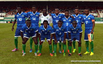 Photo: Leone Stars Match Team [Leone Stars v Ivory Coast, 6 September 2014 (Pic © Darren McKinstry / www.johnnymckinstry.com)]