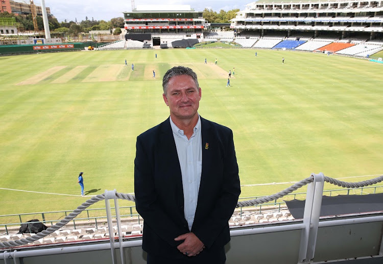 Jacques Faul during the CSA media briefing at Newlands Cricket Ground on December 14, 2019 in Cape Town, South Africa.