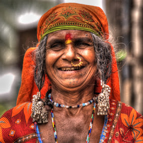 Gypsy Woman by Aparajita Saha - People Street & Candids ( colorful, hampi, gypsy woman, nose pierce, india, earrings, banjara )