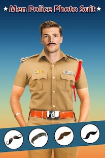 Man Mustache Police Photo Suit : Police Photo Suit - náhled