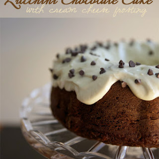 Zucchini Chocolate Cake with Cream Cheese Frosting.