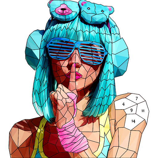 Fashion Poly Art: Color by Number, Coloring Puzzle Icon