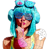 Fashion Poly Art: Color by Number, Coloring Puzzle