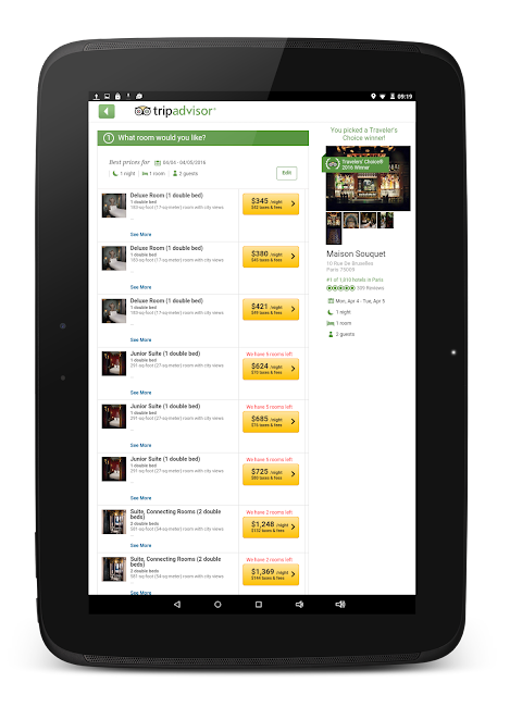 #12. TripAdvisor Hotels Restaurants (Android)