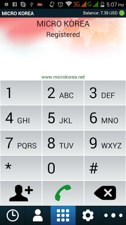 MICRO KOREA DIALER- screenshot