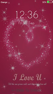I Love You Live Wallpapers ( Lock Screen ) - náhled