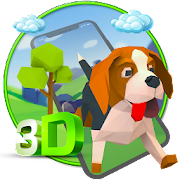 3D Cute Dog theme APK