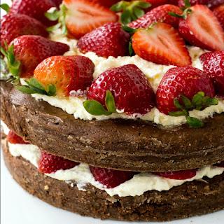 Brownie Strawberry Shortcake.
