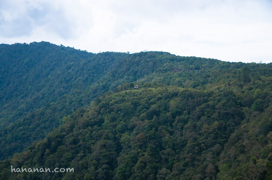 Salah satu puncak bukit yang memagari Danau Maninjau.