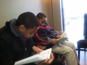 Photo: Miles & Jihad reading Jan 2012