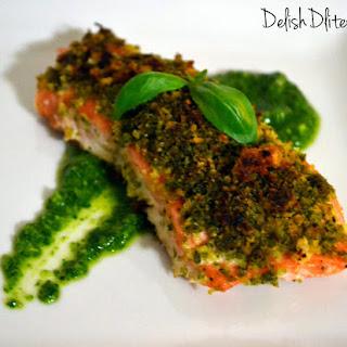 Pesto Crusted Salmon.